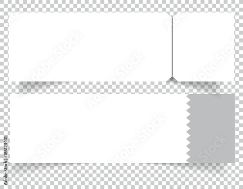 Set of Blank event concert ticket mockup template Concert, party or