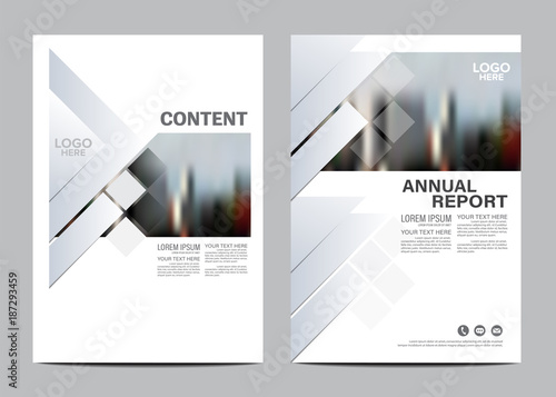 Black and white Brochure Layout design template Annual Report Flyer