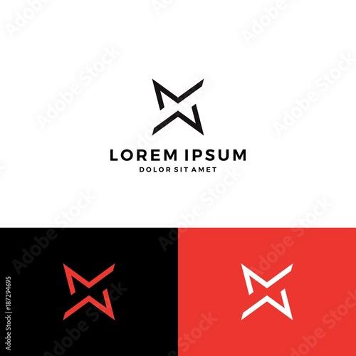 MM logo star monogram letter vector download\