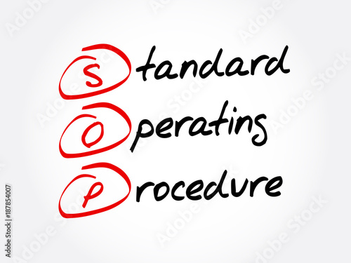 SOP - Standard Operating Procedure acronym, business concept - Free Sop