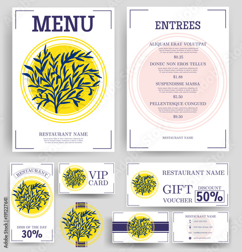 Vector restaurant brochure, menu design Vector cafe menu template - Cafe Menu Template