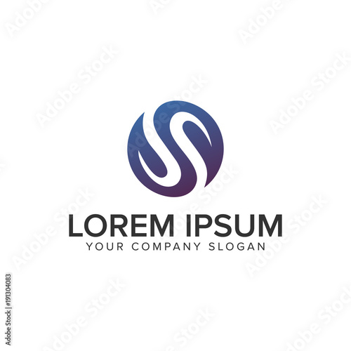 Letter S leaf Logo design concept template fully editable vector