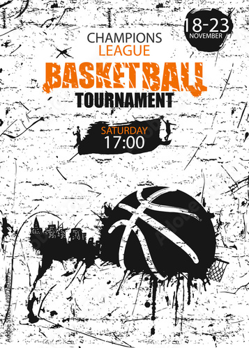 Vertical Design for basketball Poster for the tournament, sports - vertical designs