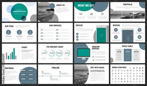 Modern Minimalist Green and Gray Circles Presentation Template You