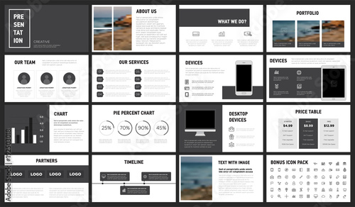 Modern Minimalist Black and White Presentation Template You can use