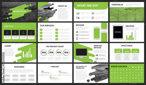 Modern Minimalist Green Presentation Template You can use it