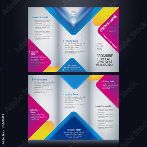 Tri-fold brochure pamphlet flyer layout background vector - pamphlet layout template