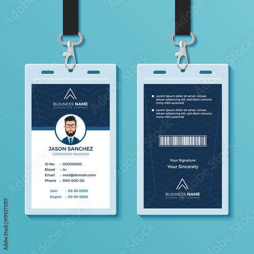 Modern and Clean ID Card Design Template\ - card design template