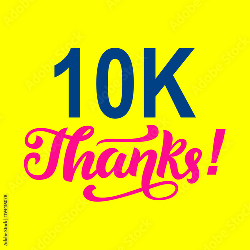 10000 followers thanks Congratulations card template\