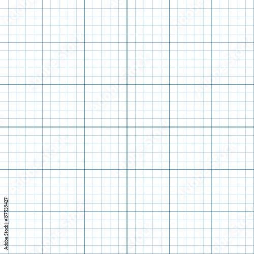 Graph paper plotting grid, vector illustration\