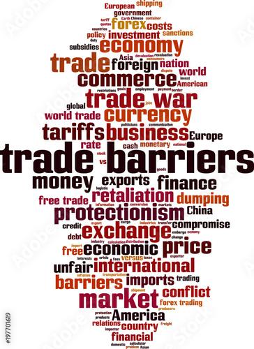 Trade barriers word cloud\