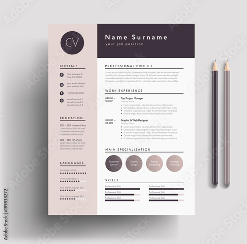 design resume with indesign