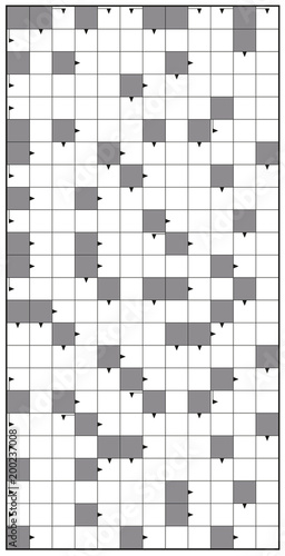 Crossword - blank crossword puzzle pattern, vertical format template