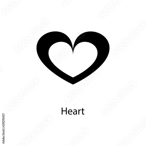 heart icon Element of minimalistic icon for mobile concept and web - apps symbol
