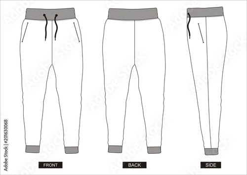 design vector template pants collection for men \