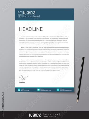 Letterhead design template and mockup minimalist style vector