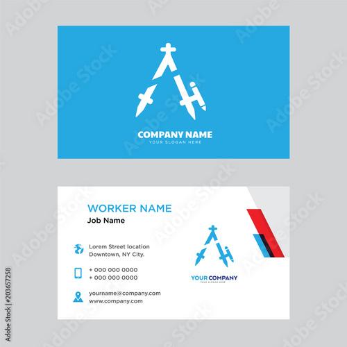 Compass business card design\