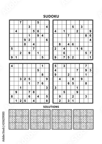 Four sudoku puzzles of comfortable (easy, yet not very easy) level
