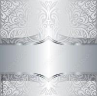 """Silver shiny floral vintage pattern wallpaper background ..."