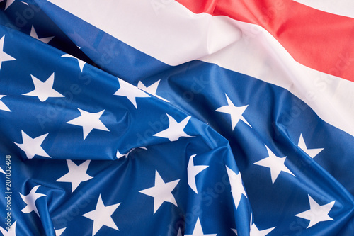 United States of America flag close up Ruffled American flag - America Flag Background