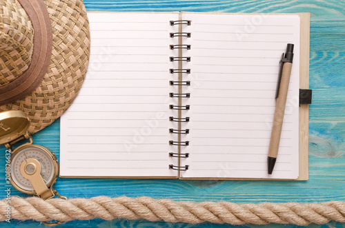 Summer vacation background frame Vacation to do list mock up Blank