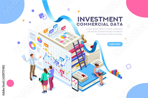 Finance and commercial investment analysis work Seal concept on