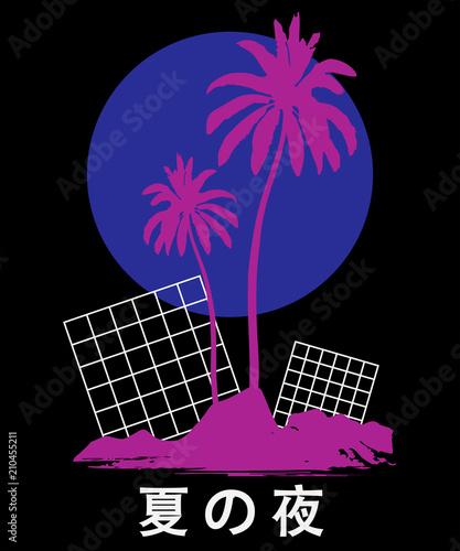 Vaporwave aesthetic t shirt illustration Typography slogan vector
