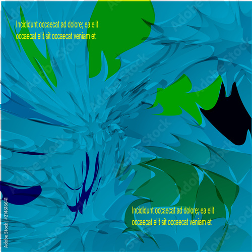 Background illustration, brush strokes, basic blue, lots of colors