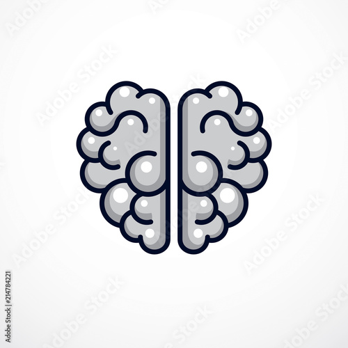 Human anatomical brain vector illustration, logo or icon\