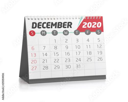 Office Calendar December 2020\