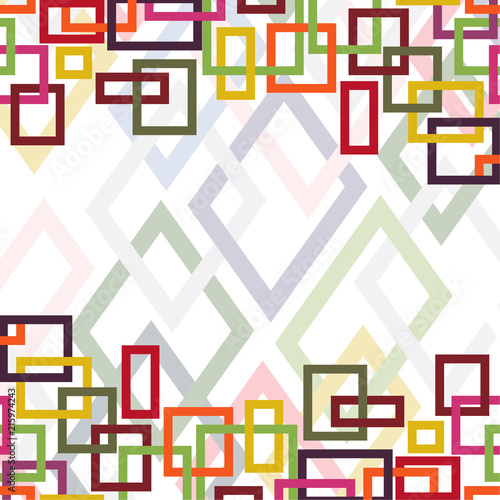 Abstract background with geometric shapes Design template Vector