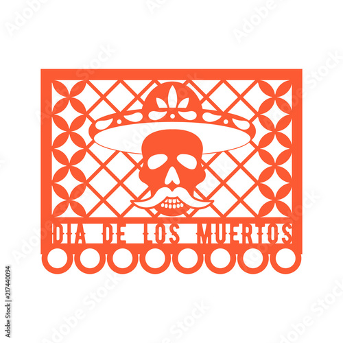 Papel Picado, Mexican paper decorations for party Paper garland