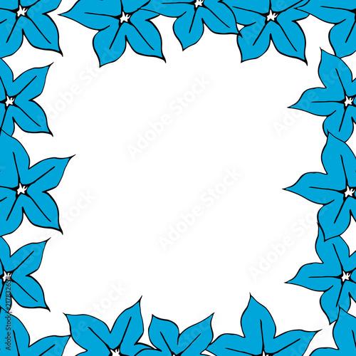 flower frame Great for wedding invitation, label template