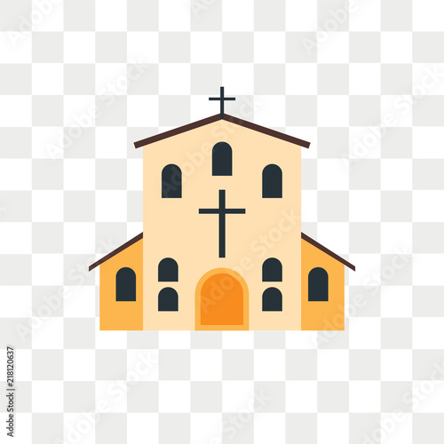 Church vector icon isolated on transparent background, Church logo