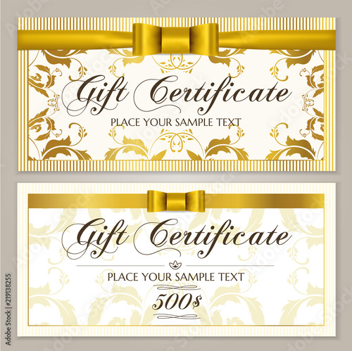 Gift certificate template (Gift Voucher layout, Coupon template