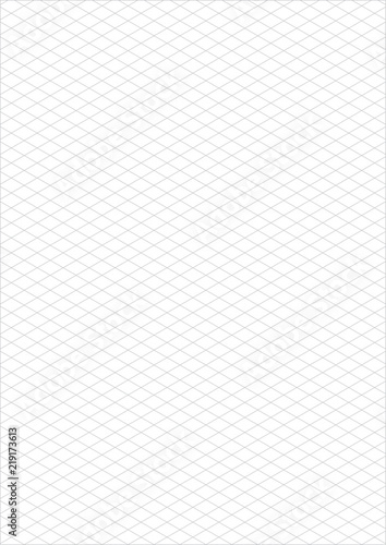isometric grid paper a3 portrait vector \