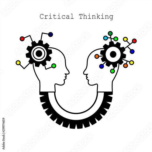 Symbol of Critical Thinking Concept for Web, Mobile or Apps