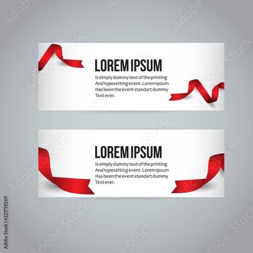 Ribbon Banner Vector Template Design Illustration\