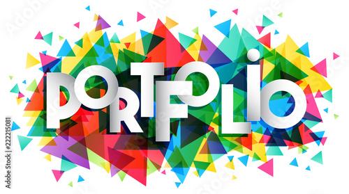 Portfolio vector word, creative concept\