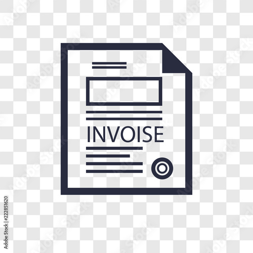 Invoice vector icon isolated on transparent background, Invoice logo