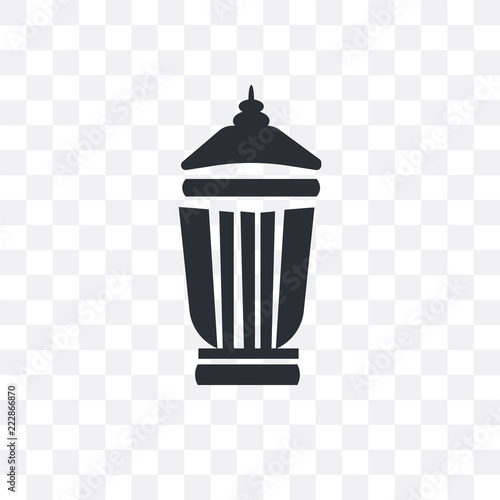delete bin icon isolated on transparent background Simple and