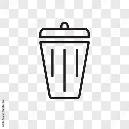 Delete vector icon isolated on transparent background, Delete logo