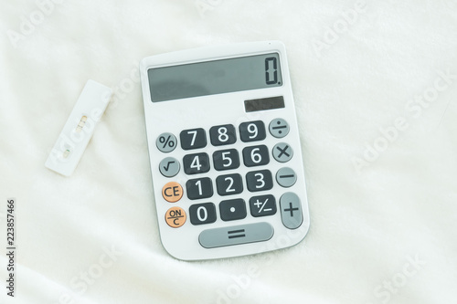Pregnancy test with positive pregnant with calculator Financial