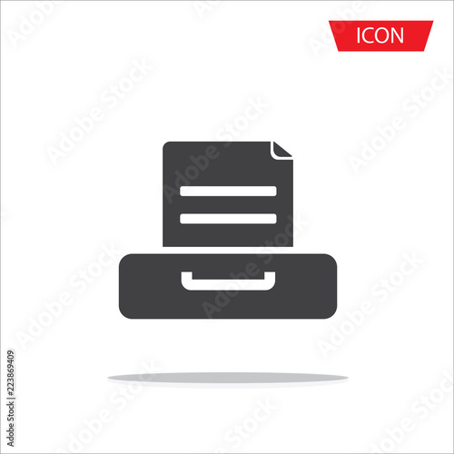Document flat vector icon Archive data file symbol isolated on