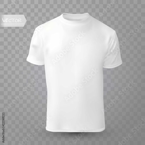 Shirt mock up on transparent background T-shirt template White