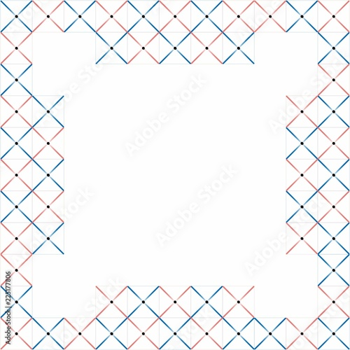 Presentation board of blue and pink lines cross-based pattern with