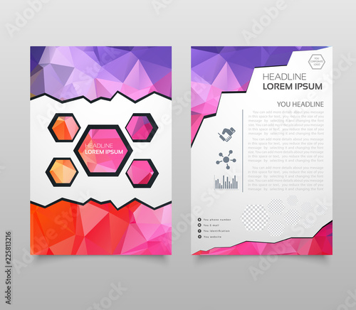 Abstract Triangle Brochure Flyer design in A4 size Brochure