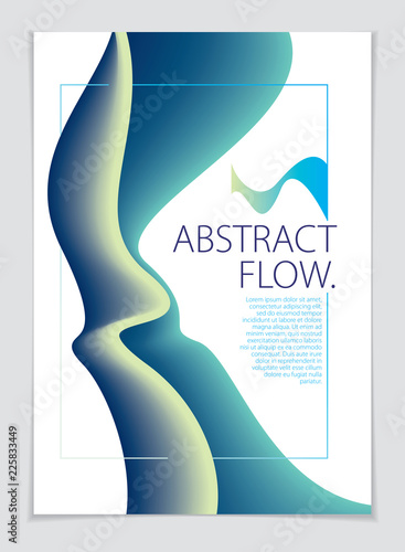 Abstract flow fluid vector background A4 print formatBrochure
