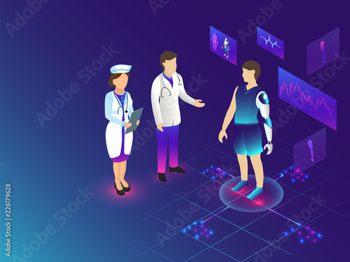 Futuristic technology for Medical Biotechnology concept based