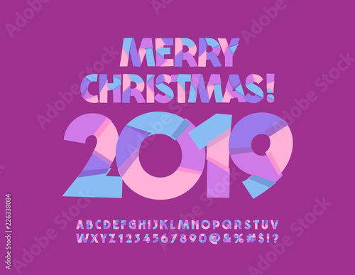 Vector Happy New Year 2019 Colorful Creative Greeting card Original